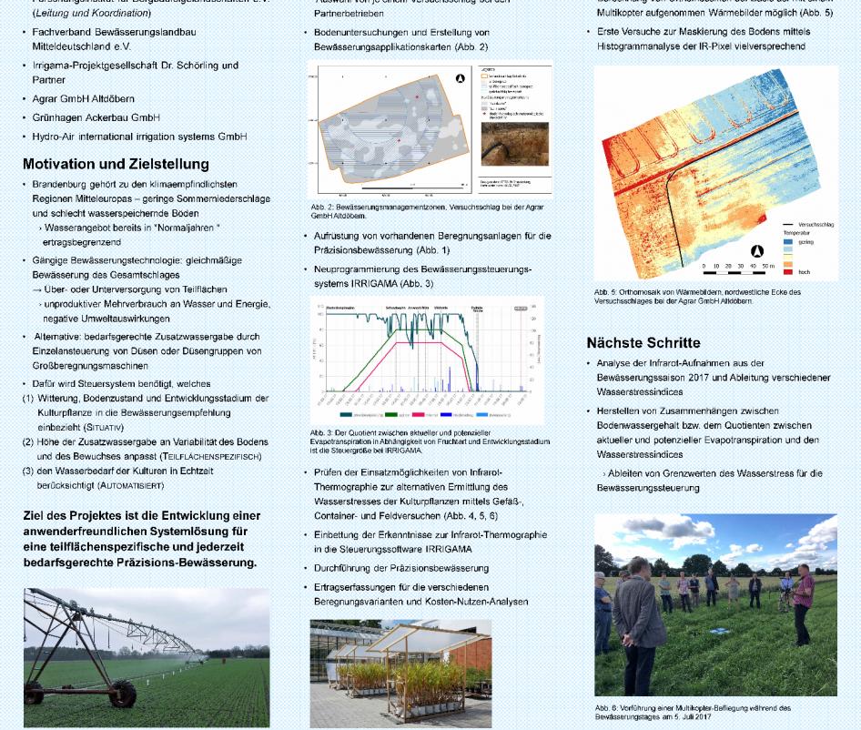 Posterpräsentation bei der Fachtagung Bewässerung in der Landwirtschaft